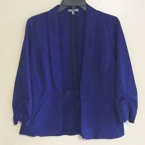 Charlotte Russe cobalt blue peplum blazer